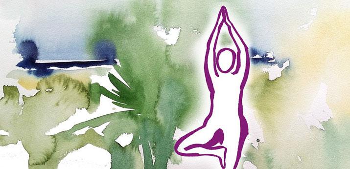 Yoga und Aquarellmalerei, Entspannung, Entschleunigung, Bewegung, mit allen Sinnen geniessen, Deine Auszeit - gegen Stress, Unruhe und Burnout