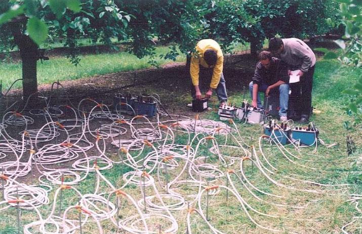 irrigation, agralis, tensiomètre, résistivité, sol