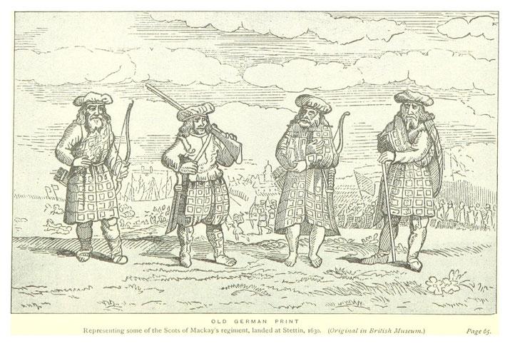 Der schottische Clanführer Sir Donald Mackay of Far, stellte 1626 ein Regiment Fußsoldaten auf, das ab 1629 für Schwedenkönig Gustav II. Adolf kämpfte. und auch an der Verteidigung Neubrandenburgs 1631 beteiigt war.