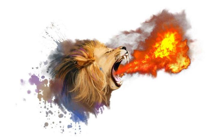 Ce qui sort de la bouche, ce sont les paroles, les déclarations, les prédictions, les condamnations... Dans de nombreux versets, la fumée, le feu et le soufre sont associés à la colère de Jéhovah, à la condamnation et à la destruction.