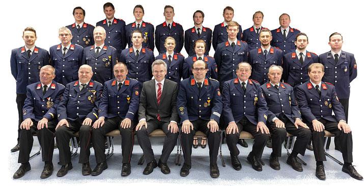 Mannschaftsfoto um 2018 Feuerwehr Pischeldorf