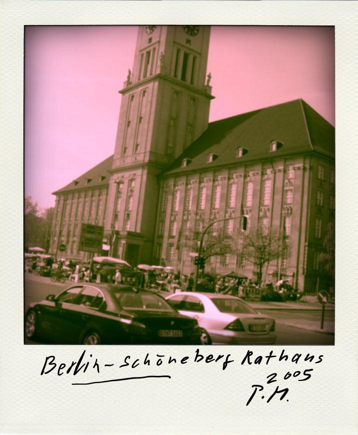 Pedro Meier – Berlin Rathaus Schöneberg. Polaroid Diary 2005 PhotoArt by© Pedro Meier Multimedia Artist, Lyriker, Maler, Schriftsteller, Fotokünstler. Zu Frühe Gedichte Amrain Verlag. Niederbipp. Bangkok BACC, SIKART Zürich ProLitteris. www.Autorenwelt.de