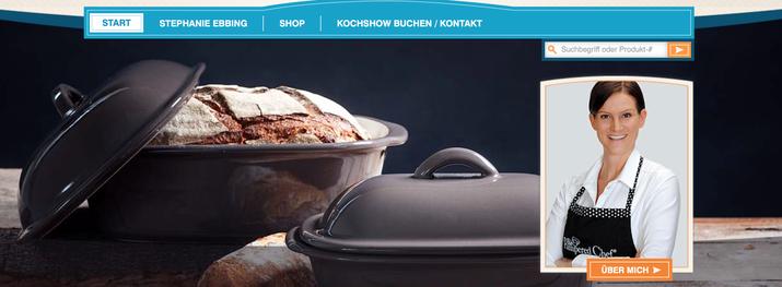 Screenshot vom Online-Shop von Pampered Chef