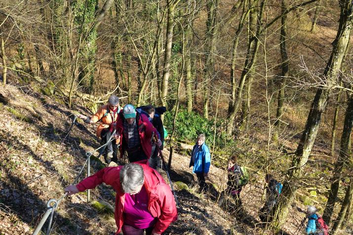 Anstieg zum Roßbach Häubchen