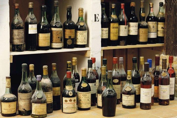 Rare 200 year old collection of Cognac and Armagnac