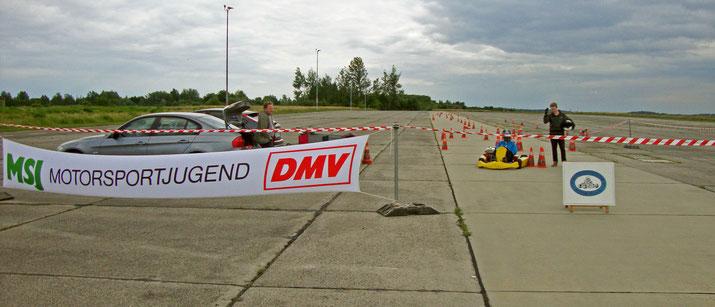 Der MC Altenburg e.V. im DMV auf dem Fluggelände Altenburg/Nobitz Airport während der Inline skating Veranstaltung am 19.06.