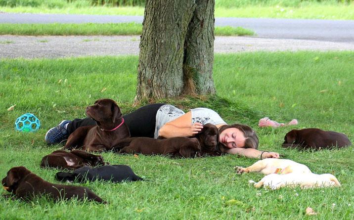 Un après-midi à relaxer avec mes bébés !