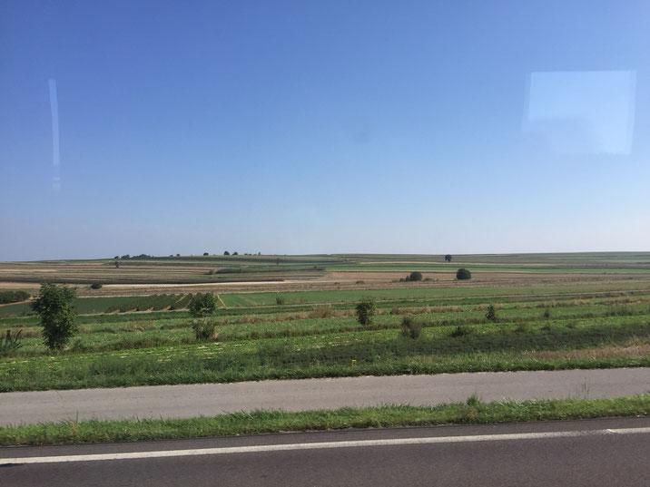 全く山が無いポーランドの風景