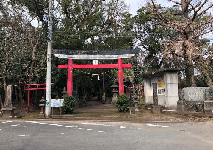 唐仁地区大塚神社へ