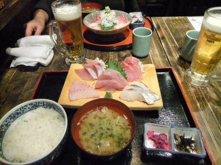 Sashimi ... et bonne bière