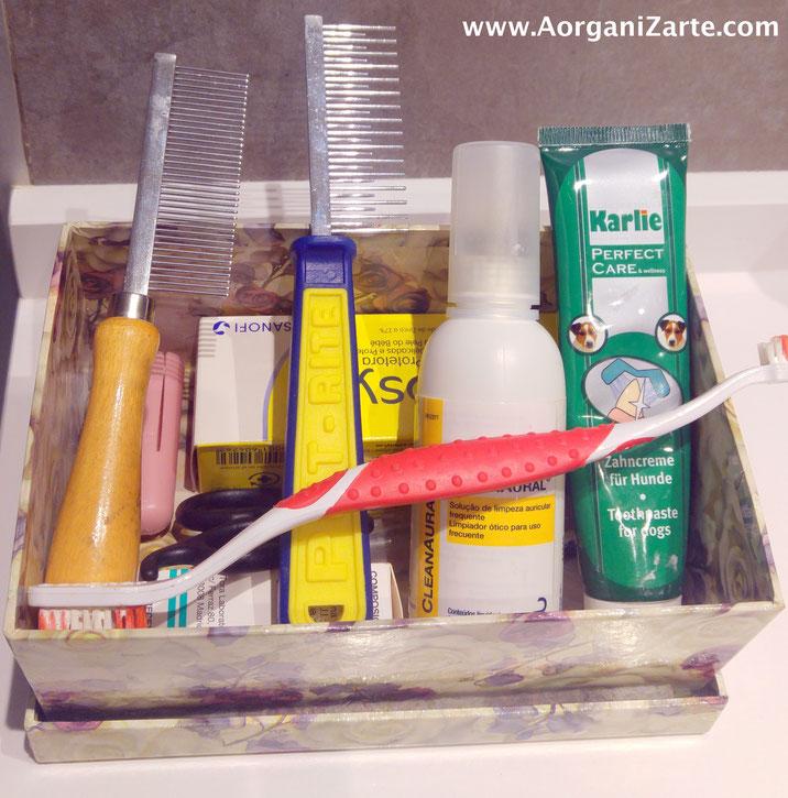 Organiza los productos de limpieza de tu mascota - AorganiZarte
