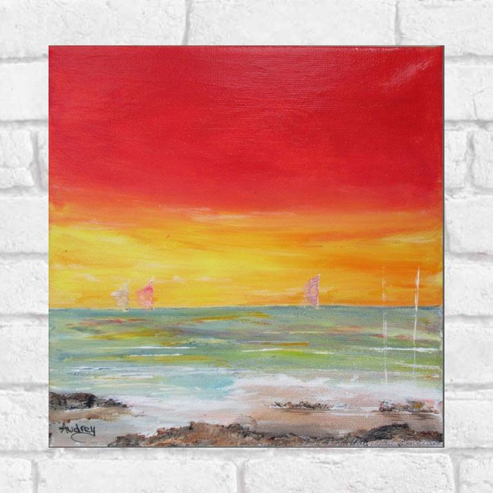 tableau-paysage-ocean-coucher-soleil-peinture-marine-artiste-peintre-royan-audrey-chal-decoration-murale