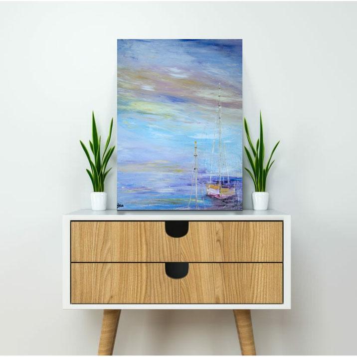 tableau-paysage-ocean-voilier-abstrait-peinture-marine-artiste-peintre-royan-audrey-chal