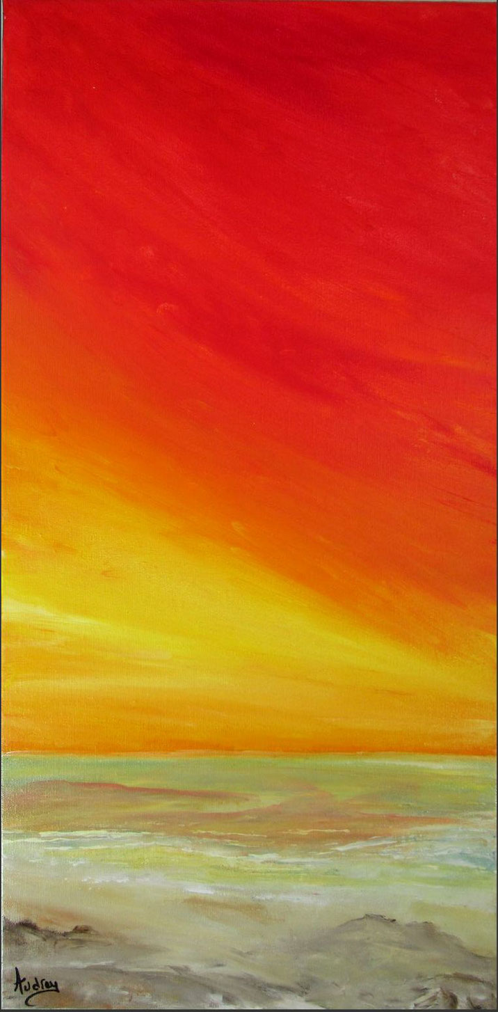 coucher-de-soleil-tableau-paysage-ocean-peinture-marine-artiste-peintre-royan-audrey-chal