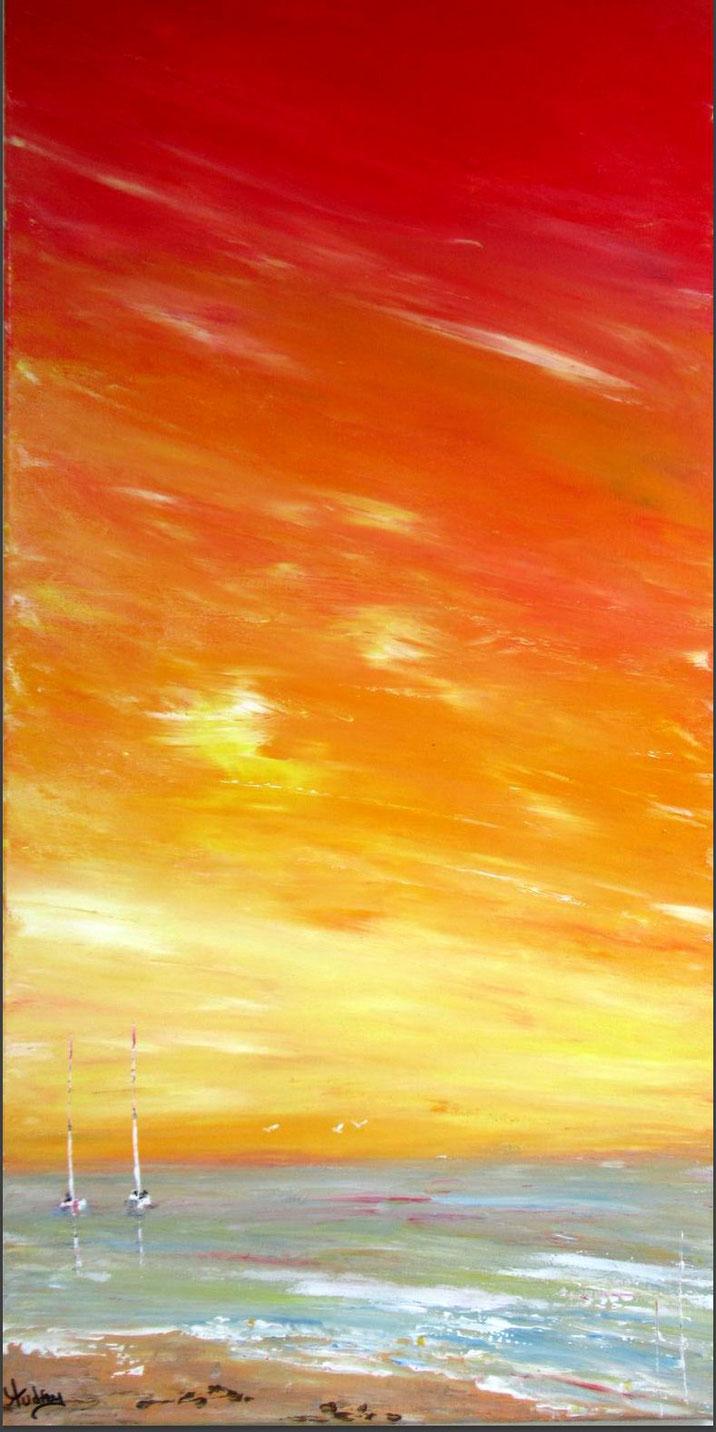 collection-art-coucher de soleil-tableau-paysage-ocean-peinture-marine-artiste-peintre-royan-audrey-chal