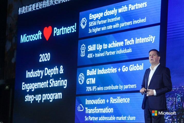 Alain Crozier's keynote speech, photo courtesy of Microsoft