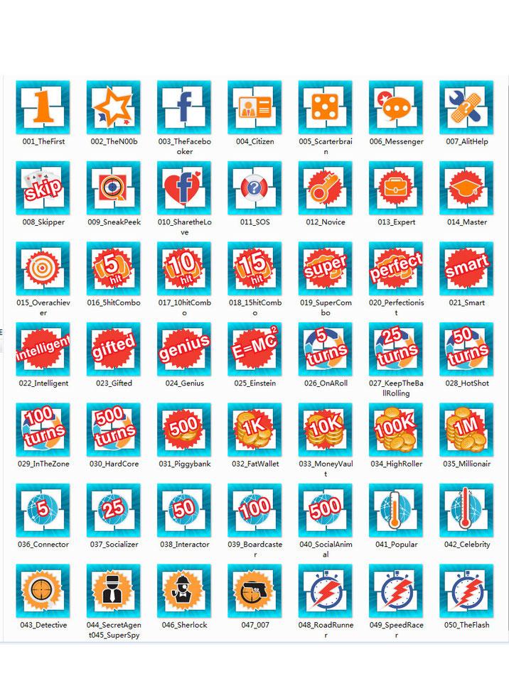 Social game icon design