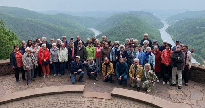 Gruppenbild: Fahrt ins Saarland