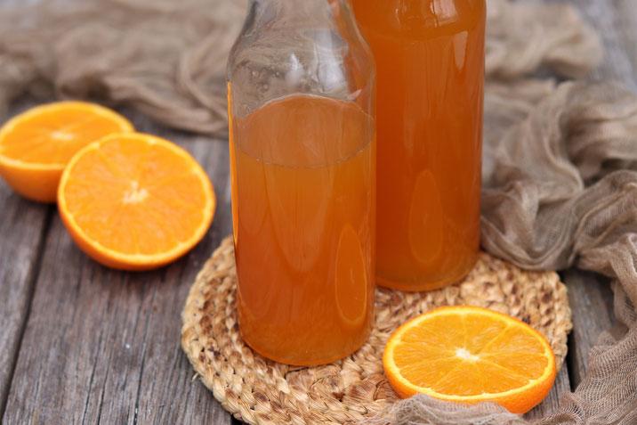 selbstgemachter Orangensirup