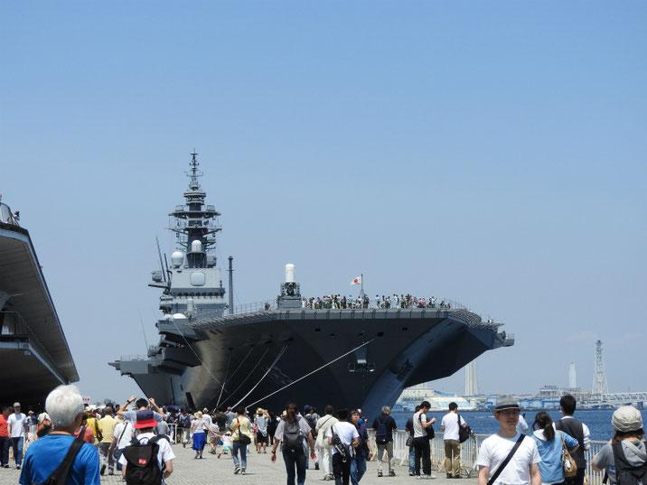 横浜港 護衛艦いずも 一般公開 2018/06/02撮影