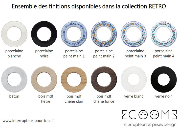 ecoome-interrupteur-prise-design-rétro-vintage-porcelaine-céramique-verre-ancien-rotatif-va-vient-usb-pas-cher-ceram-4-bois-chêne-hêtre