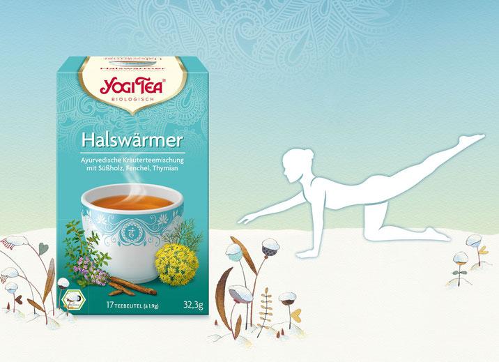 Einfache Yogaübung für Gleichgewicht und zur Stärkung des Körpers - Der passende Tee: Halswärmer