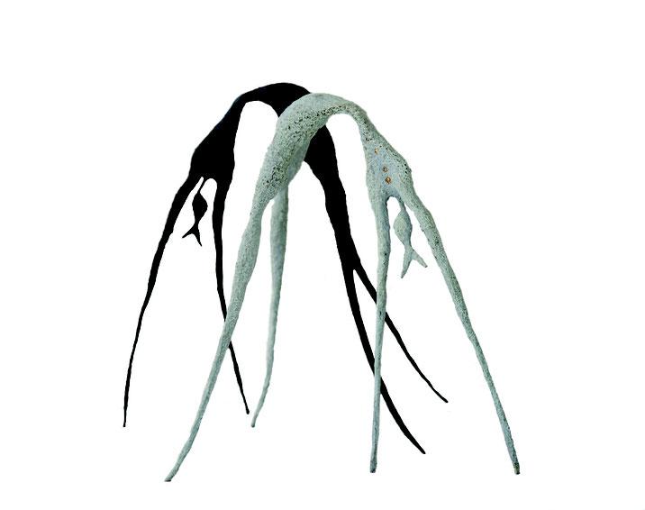 Mujer Araña | Fish & Trees series, 2015, bronze, black - white patina, 2/8 - 3/8, 24 x 26 x 16 cm