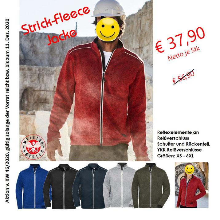 Strick, Fleece Jacke, reflecktierend, warm, wir führen auch Bekleidung, zertifiziert nach EN ISO 20471 Klasse 3 und EN 343
