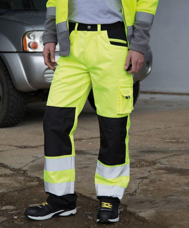 Hose Cargo, Sicherheitsbekleidung, besticken, bedrucken lassen, Arbeitsbekleidung, Steiermark, EN ISO 20471:2013 A1:2016 Klasse 2, bedruckt, bestickt, in gelb u. orange lieferbar