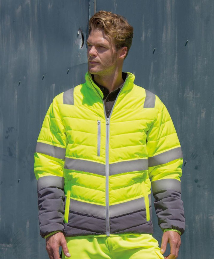 Jacke, Sicherheitsbekleidung, besticken, bedrucken lassen, Arbeitsbekleidung, Steiermark, EN ISO 20471:2013 A1:2016 Klasse 2, bedruckt, bestickt, in gelb u. orange lieferbar, Herren u. Damenmodell verfügbar