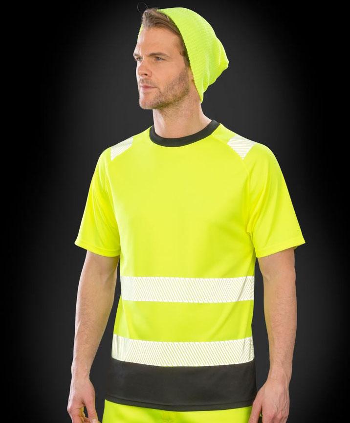 Shirt, Sicherheitsbekleidung, besticken, bedrucken lassen, Arbeitsbekleidung, Steiermark, EN ISO 20471:2013 A1:2016 Klasse 2, bedruckt, bestickt, in gelb u. orange lieferbar