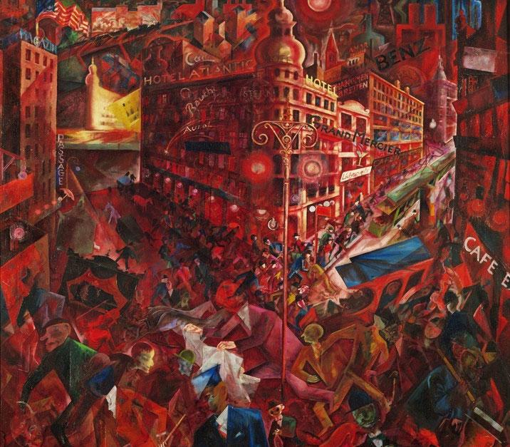 """George Grosz, """"Metropolis"""" (1916-1917)"""