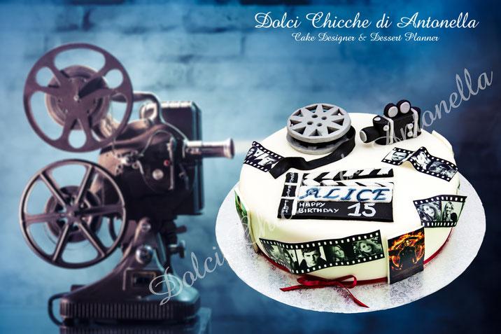 torta cinema-regia-recitazione-dolci-la spezia-compleanni-eventi-feste-cake design-torte a tema