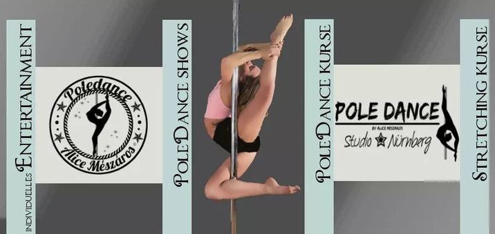 Pole Dance Akrobatik Shows bundesweit, Pole Dance Kurse, Stretching Kurse, Pole Dance Studio Nürnberg