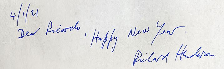 Autograph Richard Henderson Autogramm