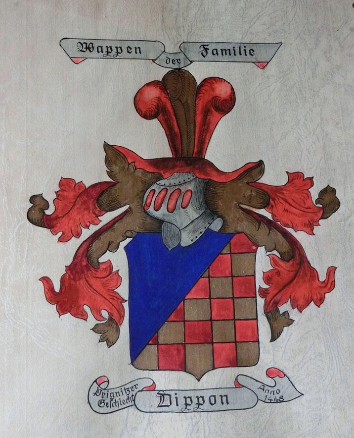 Wappen der Familie DIPPON - Prignitzer Geschlecht anno 1448