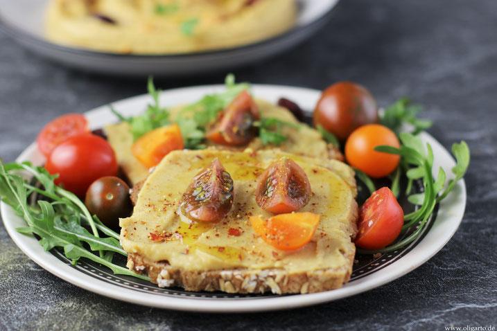 Brot mit Hummus und Gemüse Oligarto Rezepte Blogzine