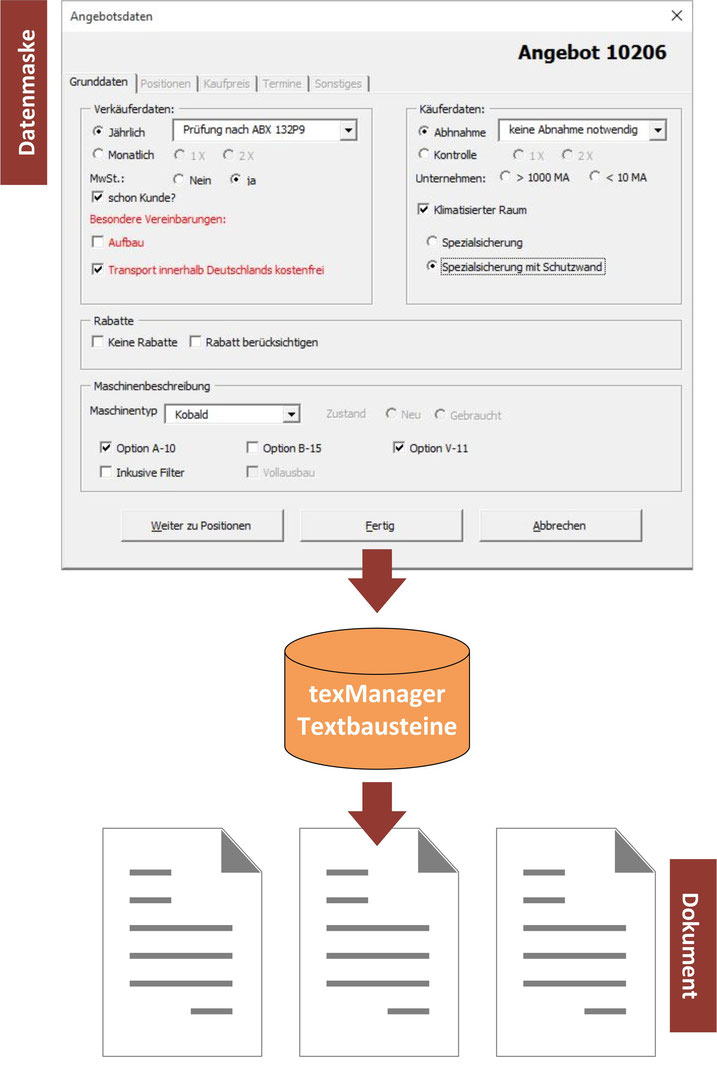 VBA-Formulare - Textbausteinmanagement