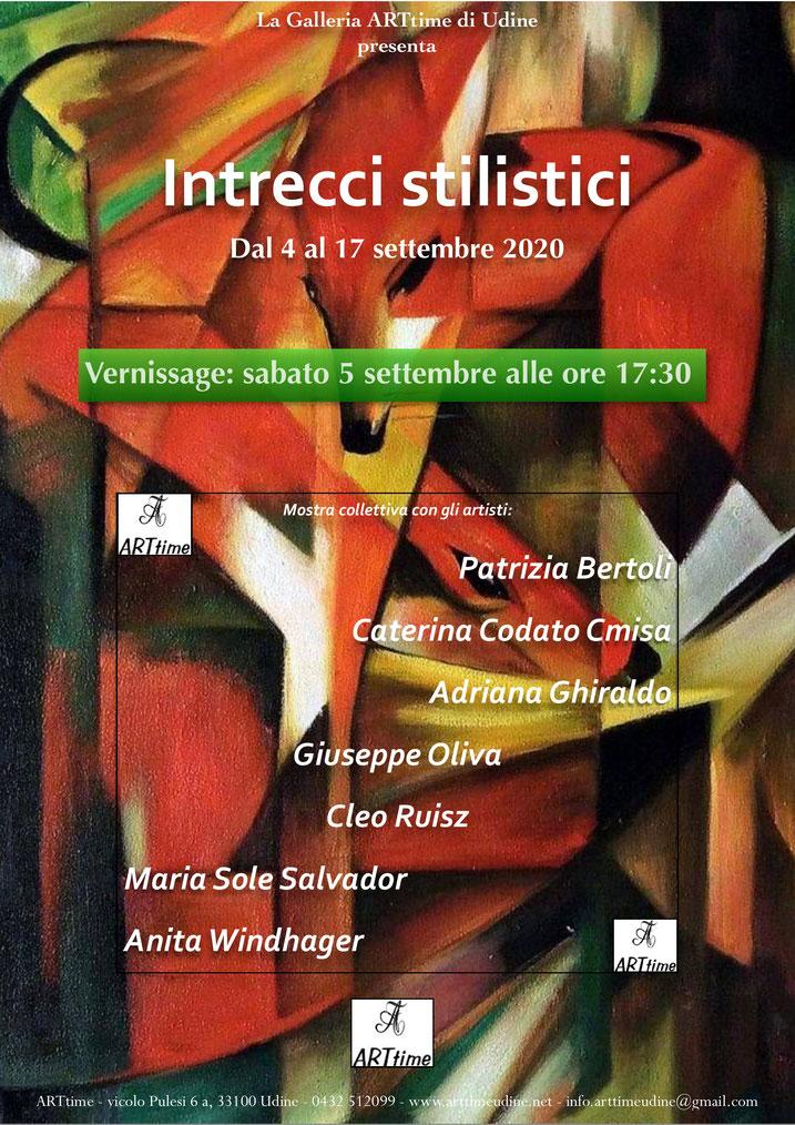 Ausstellung INTRECCI STILISTICI, Udine, Italien