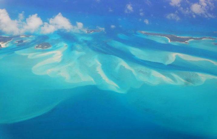 Anflug auf die Bahamas