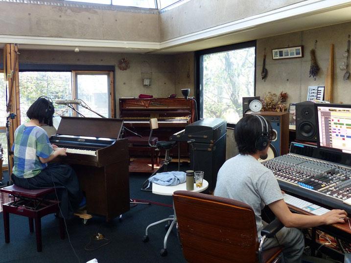 echo and cloud studioでオルガンのレコーディング