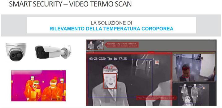 videocamere misura rilevazione temperatura corporea
