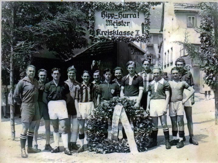 Erste Meisterschaft des SV Distelhausen