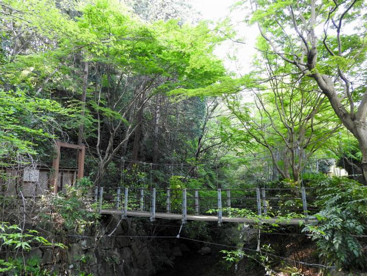 親水緑道の吊り橋 2021/04/11撮影