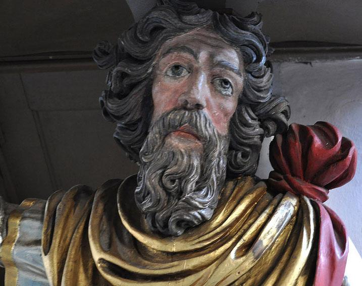 Moses als Kanzel-Tragesäule in der Brucker Kirche
