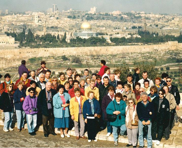 Israel-Reisegruppe, Evangelische Thomas-Gemeinde Erlangen, Jerusalem 1991
