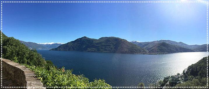 Blick auf den Lago Maggiore von Carmine aus