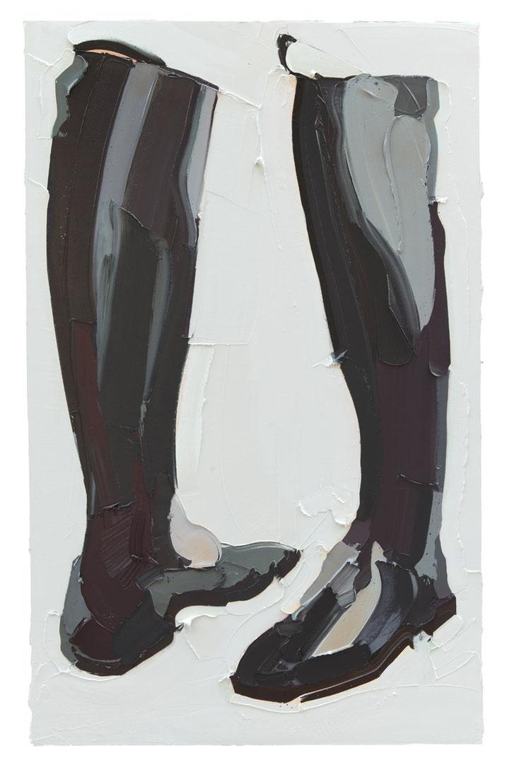 MARTIN WEHMER, BOOTS, 2016, Öl auf Leinwand, 160 x 100 cm