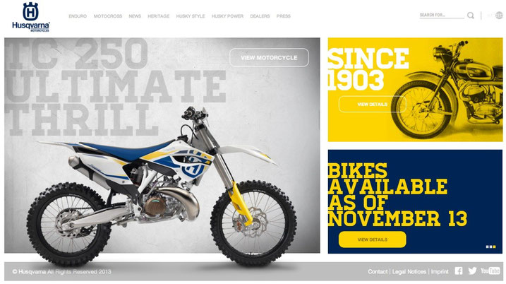 Husqvarna Motorcycles Website 2013