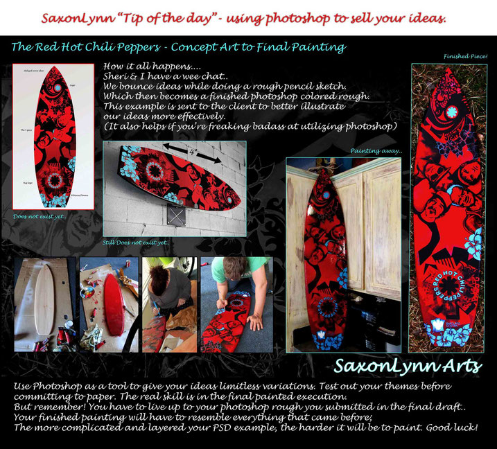 Red Hot Chili Peppers Surfboard